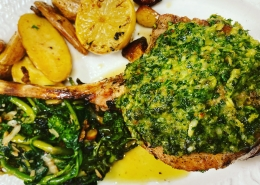 pan roasted veal chop